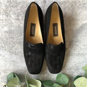 BALLY Seude Leather Loafers
